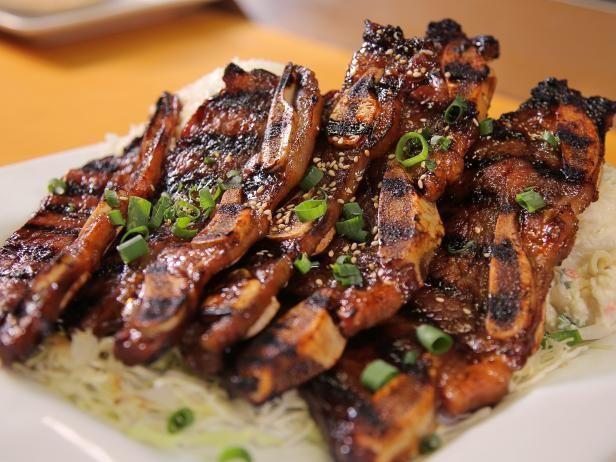 Get Kalbi Short Ribs in Da Kitchen Teriyaki Sauce Recipe from Food Network