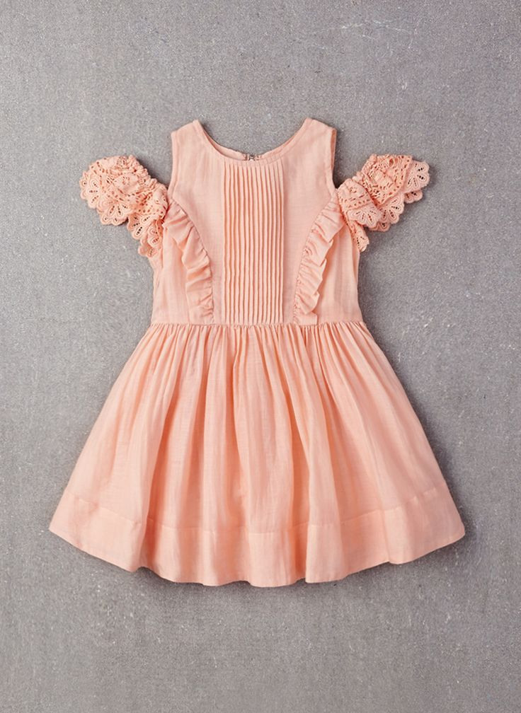 Nellystella Alexis Dress in Peach Melba- PRE-ORDER
