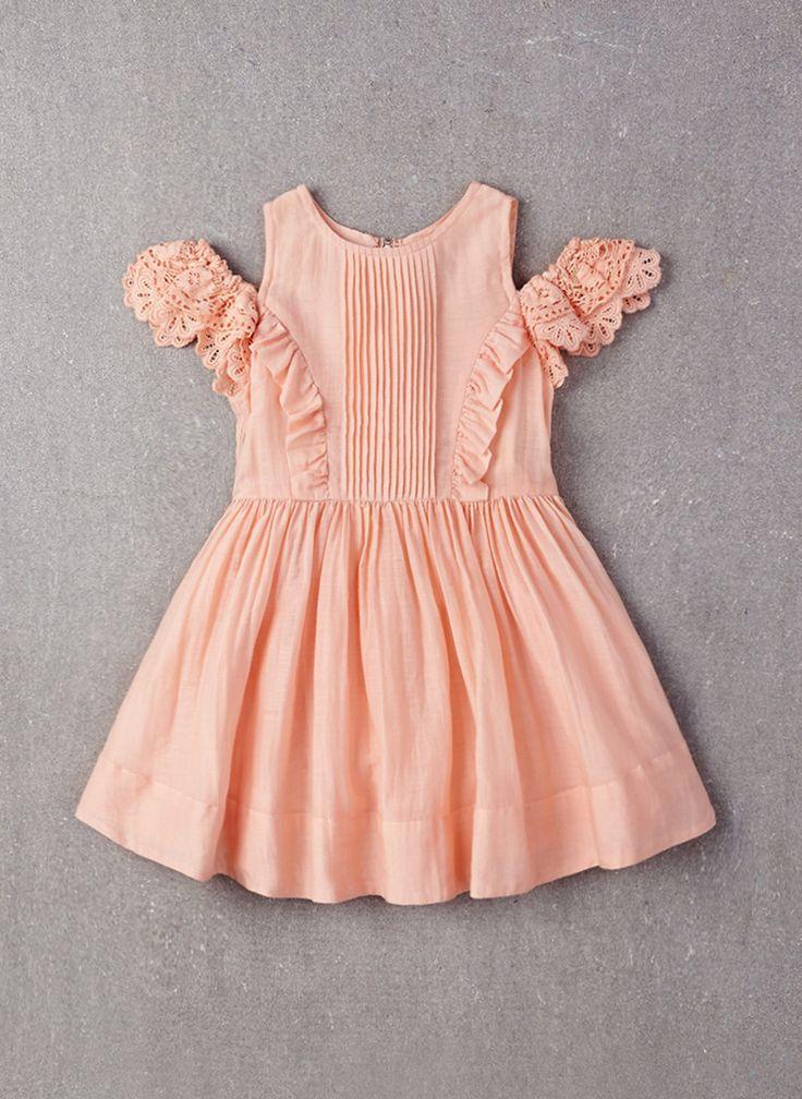 Nellystella Alexis Dress in Peach Melba- PRE-ORDER
