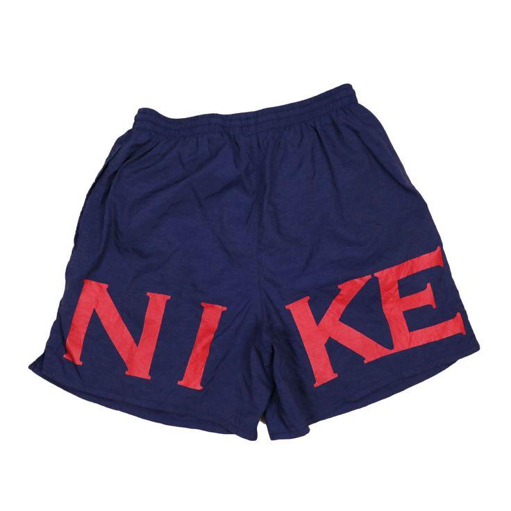 Vintage 90er Jahre NIKE Shorts Badehose Herren Big Logo   – My Store