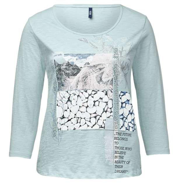 Trendy shirt met print Merk: Cecil