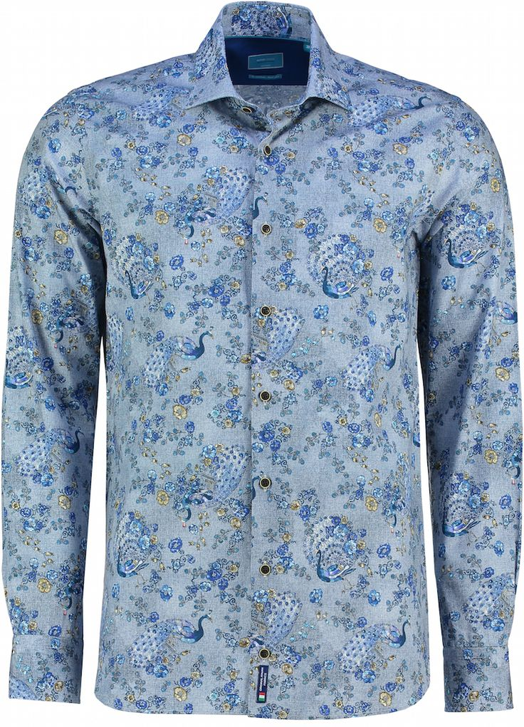 Nieuw: #overhemden van British Indigo. Zoals deze Flower Power pauw dieren https://www.shirtsupplier.nl/nl/overhemden/italiaans-british-indigo-blauw-flower-power-pauw-dieren-overhemd-met-bruine-knopen-752048210 … #britishindigo