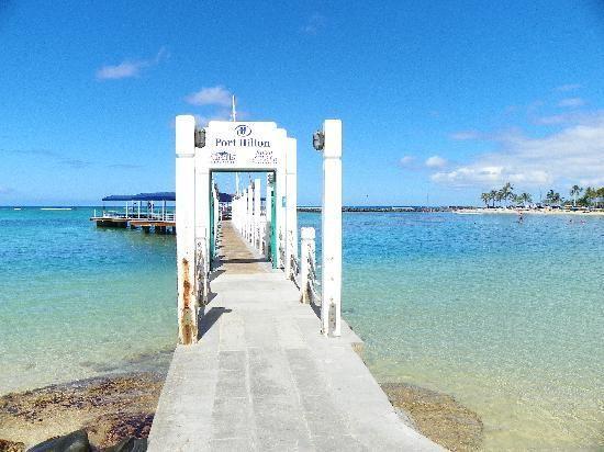 The pier at Hilton Hawaiian Village Waikiki Beach Resort.