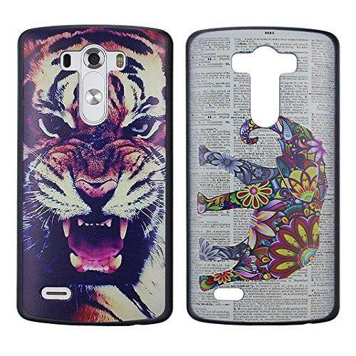 Asnlove para LG G3 D855 2pcs/set funda carcasa plastica rígida policardonato cubierta de tapa trasera case completo designo pintura motivo-Tigre elefante colorido Asnlove http://www.amazon.es/dp/B0114G47ZM/ref=cm_sw_r_pi_dp_.NrGwb0FX1WFJ