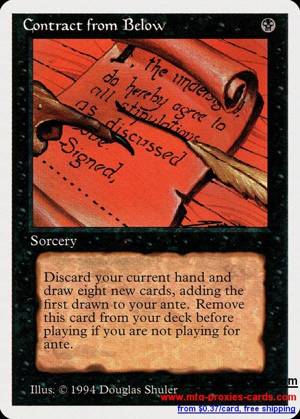 Contract from Below.xlhq Magic The gathering proxy mtg proxies cards customize from 0.37$ free shipping SUM - Summer Magic (Edgar)