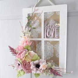 Hello Love Window Frame Wreath