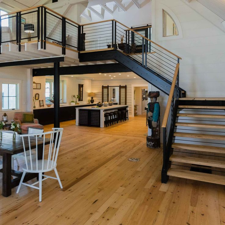 This light and airy home in Massachusetts incorporates Longleaf Lumber  White Wood reclaimed flooring in widths - 20 Best Images About Longleaf Lumber Reclaimed Wood Flooring On