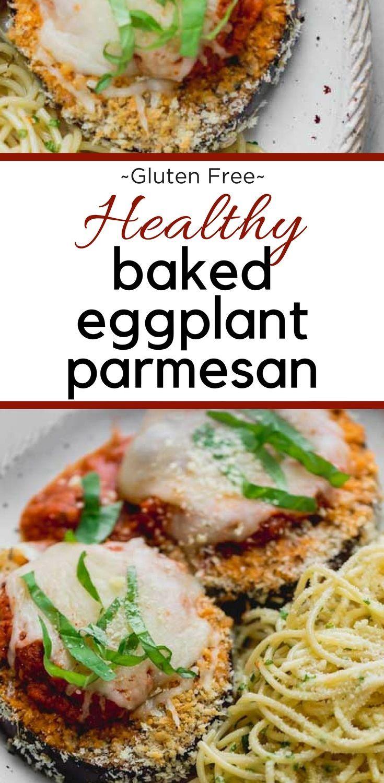 Baked Eggplant Parmesan Recipe Eggplant Parmesan Baked Baked Eggplant Eggplant Parmesan