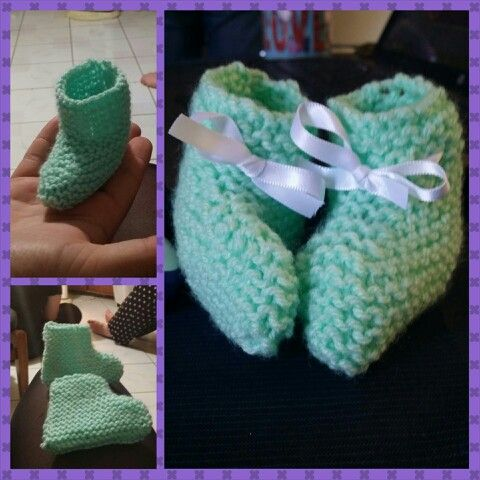 Knitted baby booties :)