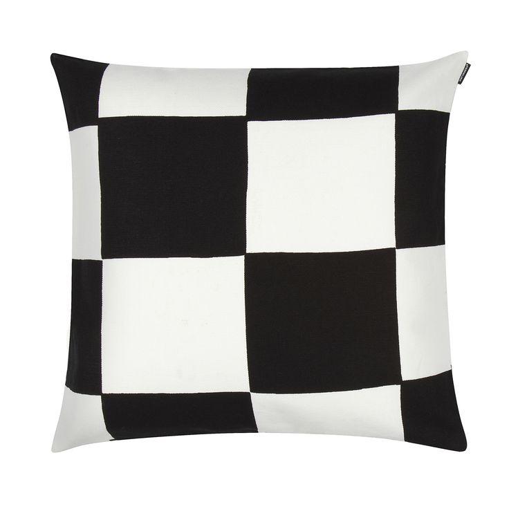 Marimekko Kukko Ja Kana White / Black Throw Pillow