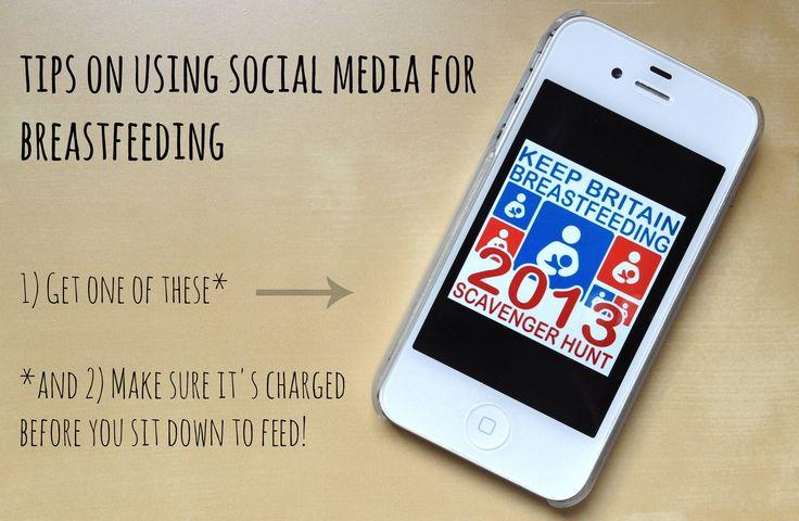 Tips on using social media for breastfeeding