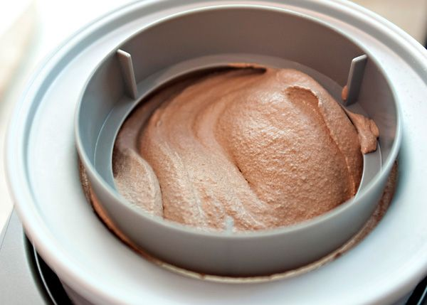 chocolate ice cream homemade with cocoa, cream and brown sugar!