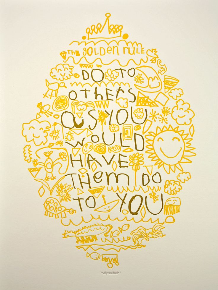 golden rule poster: Doodles Art, Golden Rules, Quote, Poster, Kids Art, Dining Rooms Tables, Hands Drawn, Auction Projects, Father