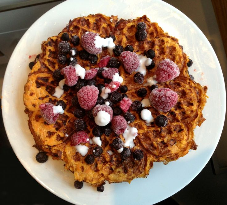 Sweet potato waffles - only 3 ingredients :)