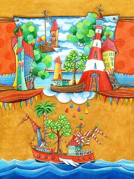 Marvelous Seemannsgarn Kinderzimmer Bild auf Leinwand Alu Dibond Xzpozer und Poster