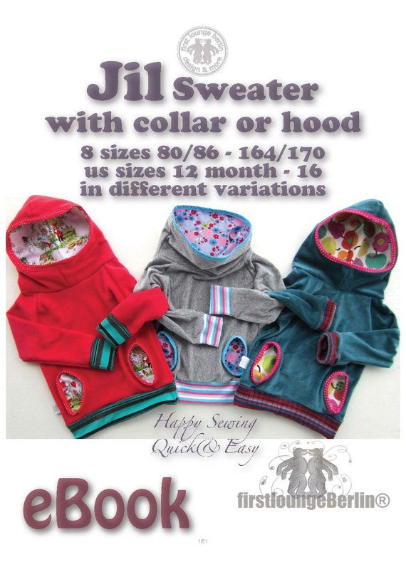 US-Jil  sweater with hood or collar eBook by firstloungeberlin