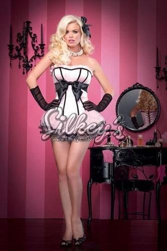Roze Crni Korset + Suknjica
