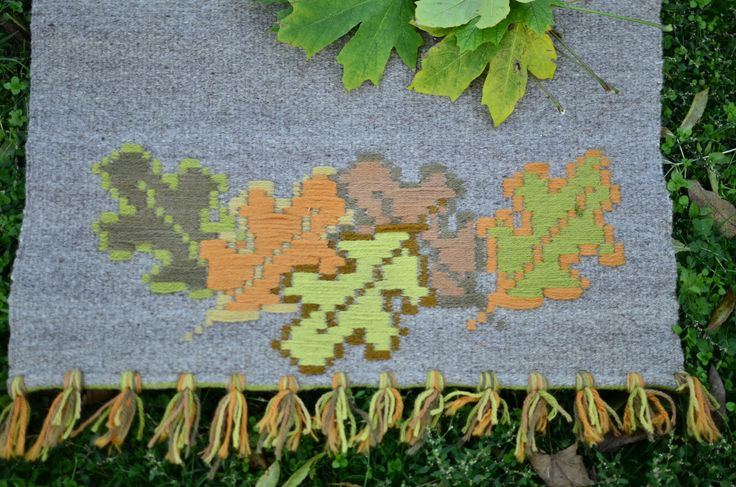 """Wool rug """"Autumn"""" - Autumn and natural colors by DzevStudio on Etsy"""