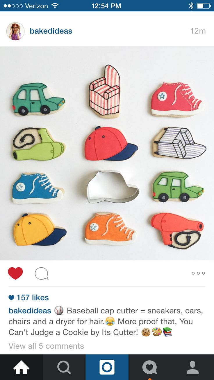 The many shapes of a Baseball Cap: http://cookiecutter.com/baseball-cap-cookie-cutter.htm