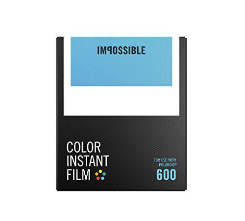 Impossible – 4514 – Nouveau : pellicule couleurs pour Appareil Polaroid type P600 – cadre blanc – 8 feuilles par boîte: Pack de 8 poses –…