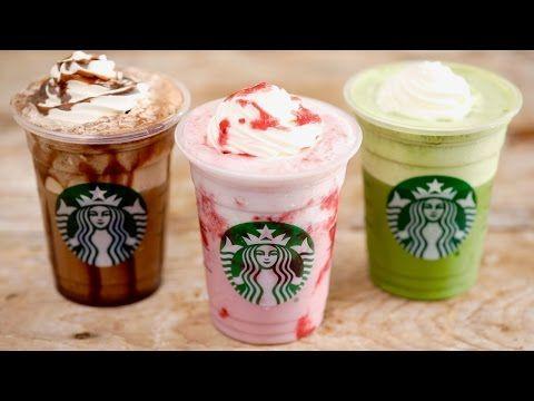 Homemade Starbucks Frappucino (Strawberry, Matcha green tea, mocha) - Gemma Stafford