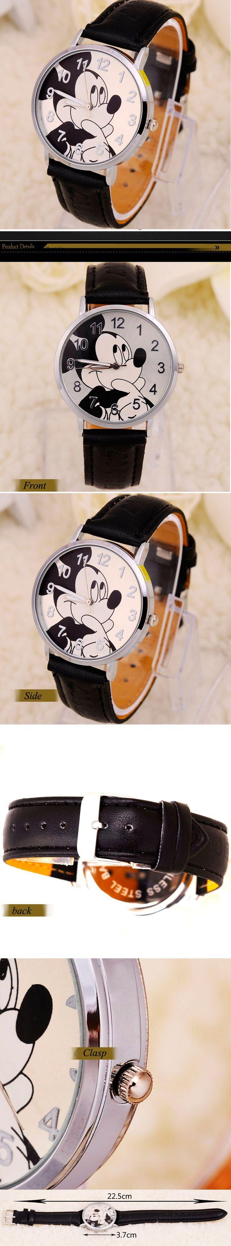 Mouse cartoon watch ladies watches youngsters quartz wristwatch baby boy clock woman reward relogio infantil reloj ninos montre enfant - Silver Jewellery 925 - SHOP NOW