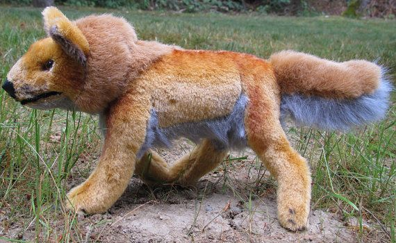 Handmade Dingo Wild Dog Plush Stuffed Animal by AnimalArtKingdom