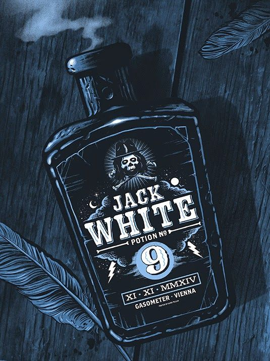 Jack White Vienna Poster by Gary Pullin