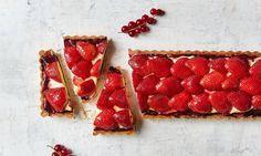 Jordbærtærte med mørdej og vaniljecreme opskrift | Dr. Oetker