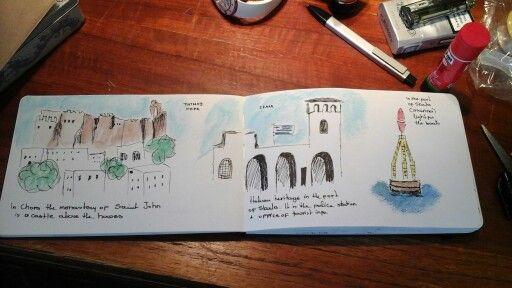 my travel journal. Patmos island, Greece. summer 2015