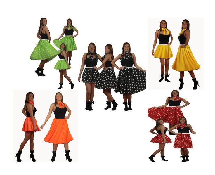 Rock N Roll Polka Dot Skirt Amp Scarf Set 1950s Amp 1960s