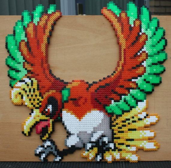 Hey, I found this really awesome Etsy listing at https://www.etsy.com/listing/173772267/ho-oh-pokemon-hama-perler-bead-sprite
