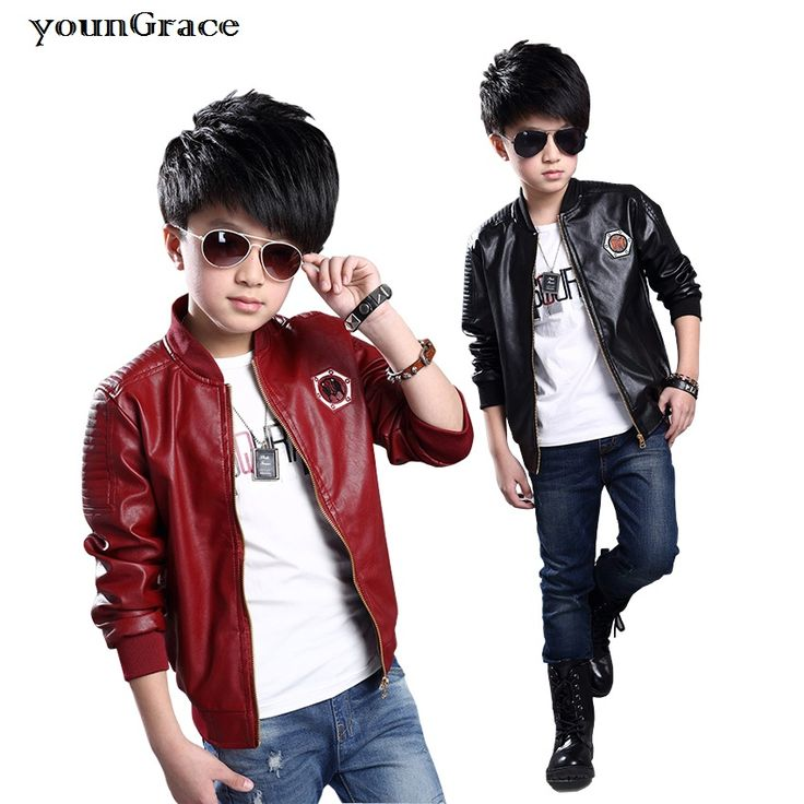 >> Click to Buy << 2016 New Arrival Kids Leather Coat for Boys Brand 4-14T Teenager Boys Autumn/Winter Faux Leather Baseball Jacket Kids Coat, C270 #Affiliate