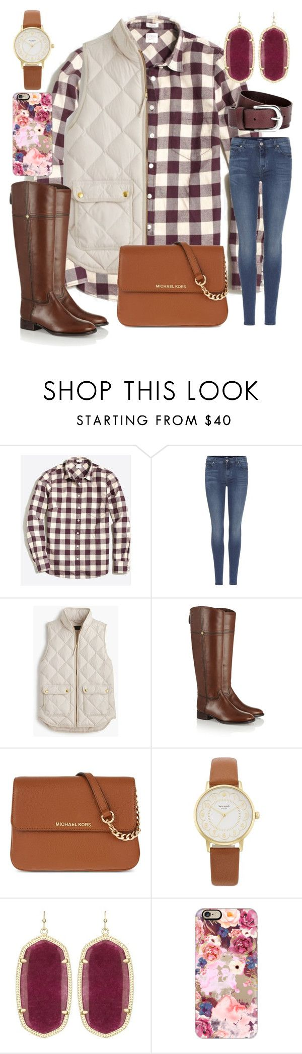 """Happy Thanksgiving!!!"" by ctrygrl1999 ❤ liked on Polyvore featuring J.Crew, 7 For All Mankind, Tory Burch, MICHAEL Michael Kors, Kate Spade, Kendra Scott and Casetify"