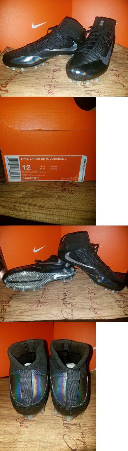Men 159116: Nike Vapor Untouchable 2 Black Silver Football Cleats Size 12 -> BUY IT NOW ONLY: $70 on eBay!
