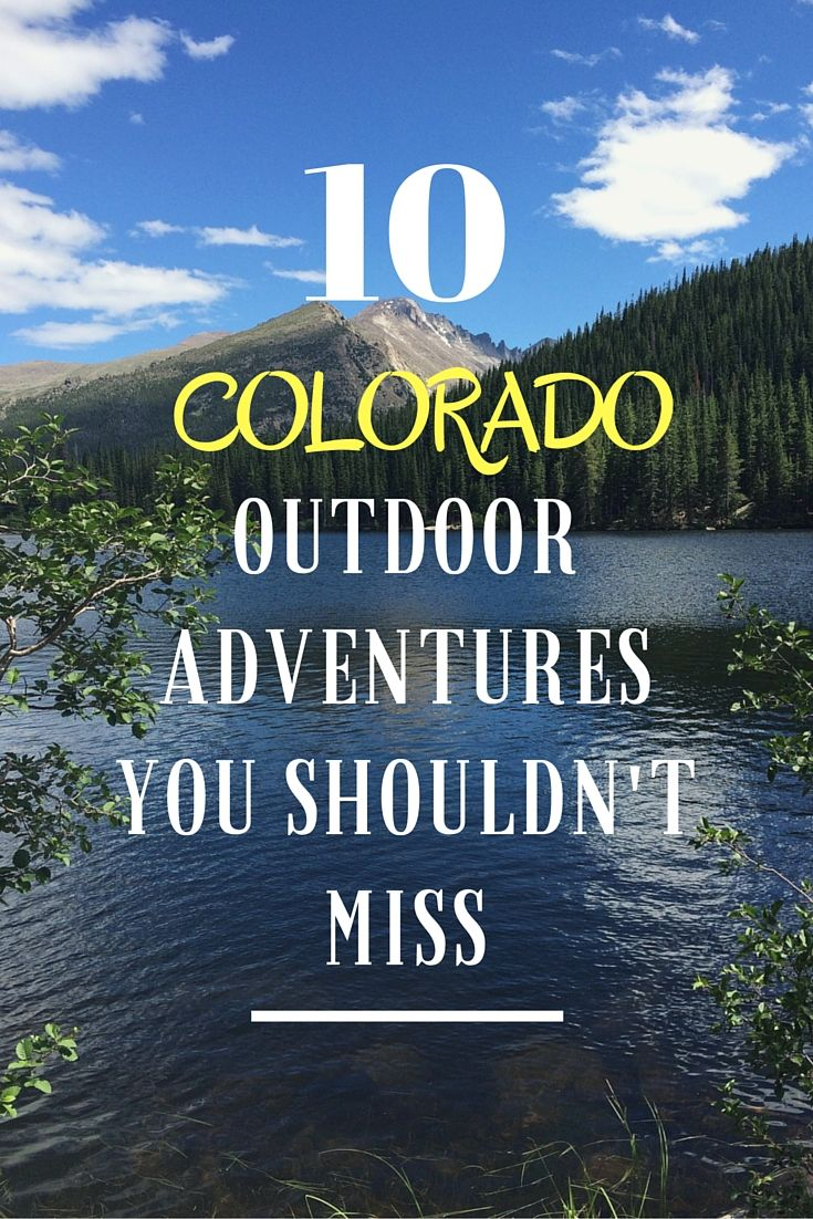 Itching to go on another adventure? Why don't you head to Colorado? Check out the blog to see 10 outdoor adventures you shouldn't miss!  jannaonajaunt.com