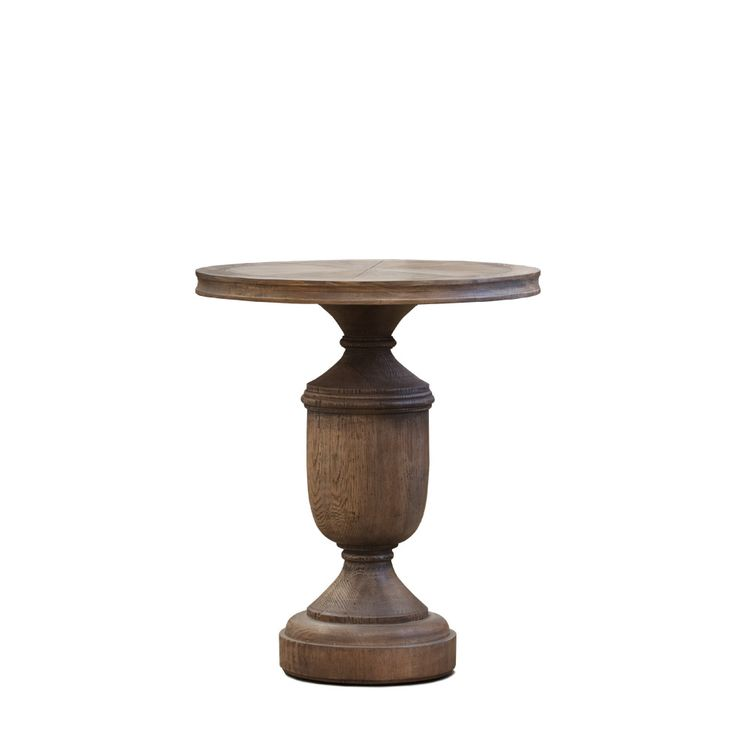 Sheppey Сoffee Table Кофейный столик (58х58х68h см)             Метки: Журнальный стол, Круглый стол.              Материал: Дерево.              Бренд: Gramercy Home.              Стили: Классика и неоклассика.              Цвета: Коричневый.