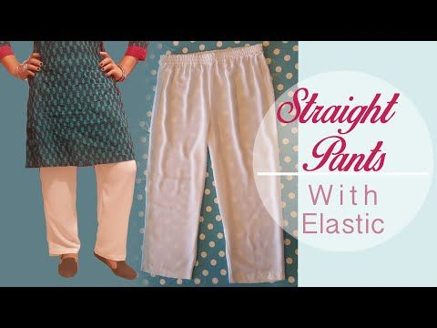 Straight Pants with Elastic - EASY - Patterns, cutting, stitching - Cloud Factory - YouTube