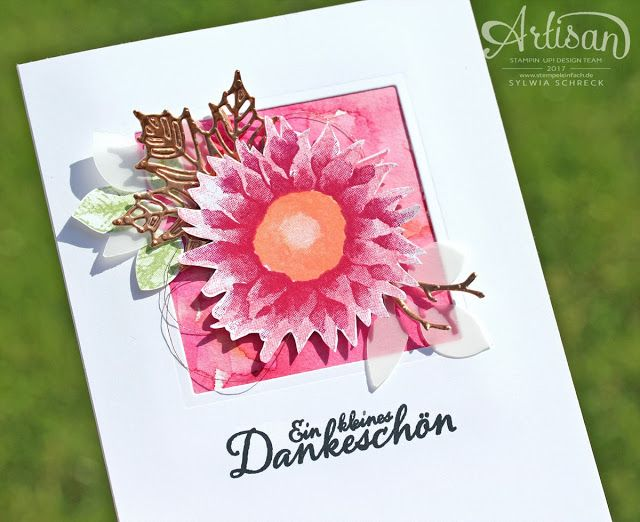 Herbst kann so schön sein. Blumenkarte mit dem Stampin Up! Stempelset Herbstanfang - Colorful autumn cards made with the Stampin Up stamp set: Painted Harvest