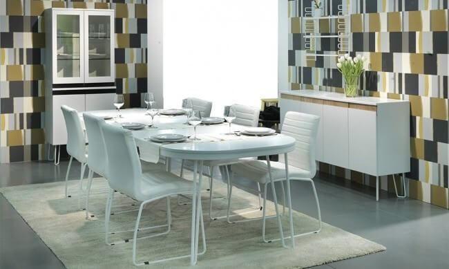 Capello, ett stilrent och minimalistisk matbord.