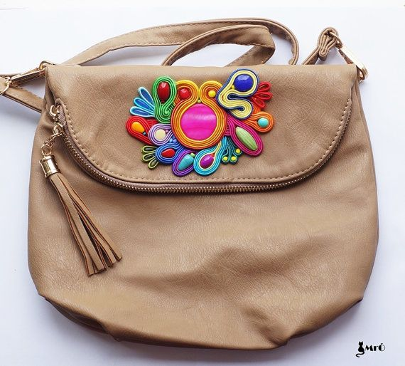 Bag with motif soutache   by MrOsOutache on Etsy, $99.00