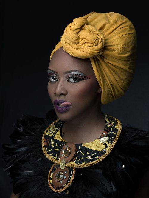 Belle gabonaise, foulard, make-up, headwrap, headscarf, plastron #gabon #cotedivoire #côtedivoire #gabonais #ivoirien