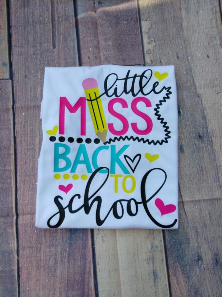 Girls Little Miss Back to School Shirt Girl's School Shirt Shirt First Day of School Shirt Children's Clothes Cute Kid's Shirt by SimplySweetJBoutique on Etsy