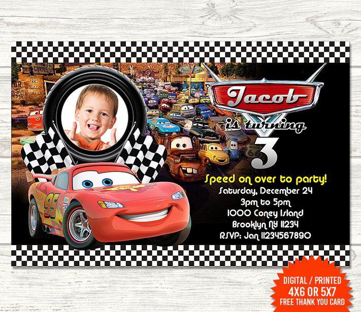Cars Party Cars Birthday Invitations Disney Cars Birthday Cars Invitation
