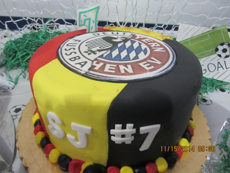 Germany Amp Bayern Munich Soccer Cake Super Soccer