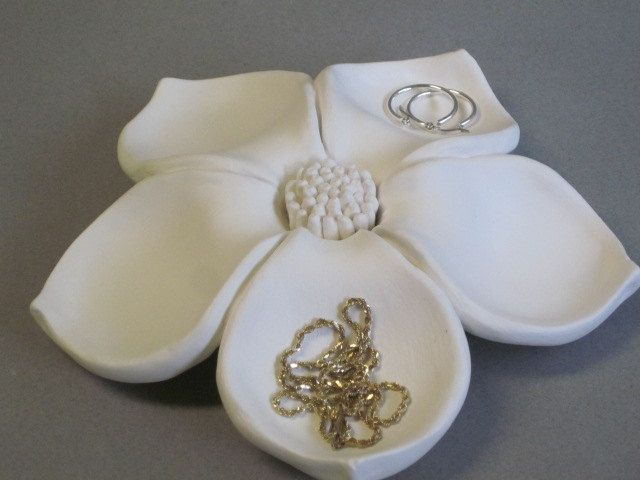 Ceramic+Flower+Bloom+jewelry+holder+floral+by+CoastalCeramics,+$42.00