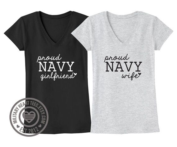 Custom Proud Navy tshirt Navy wife shirt Navy by MilitaryHeartTees