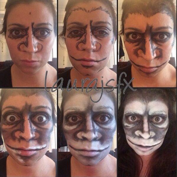 Monkey make up tutorial