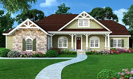 Love this one... It's a fave! Walk in pantry, split bedrooms on the same end of the house, flex room and bonus room