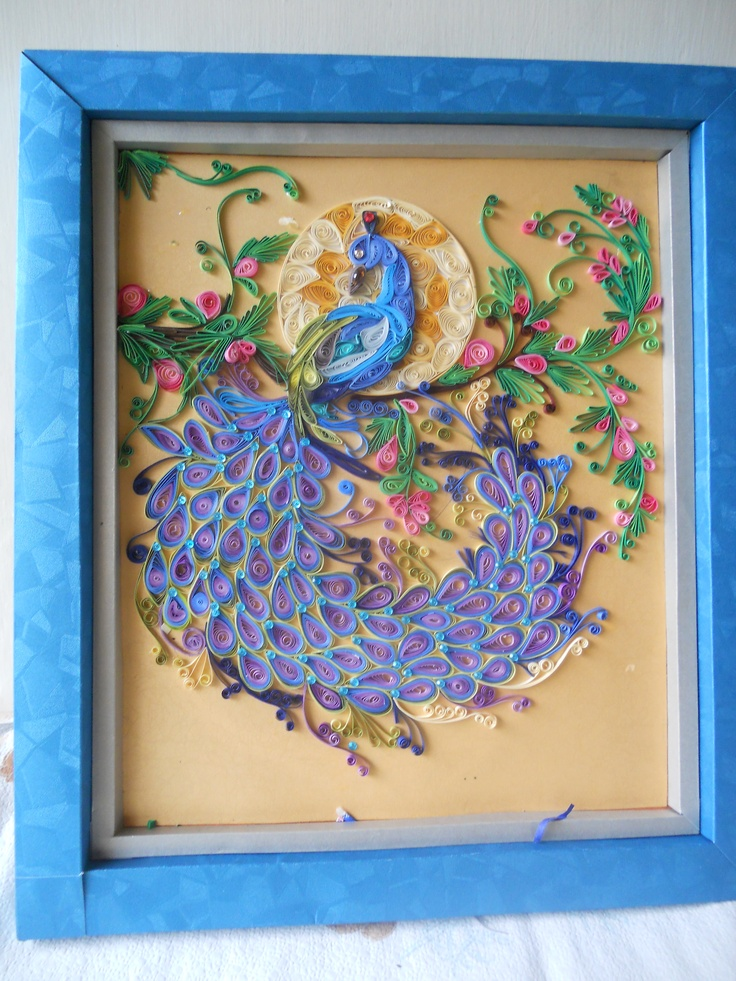 Paper frame with quilling work art pinterest for Paper quilling work